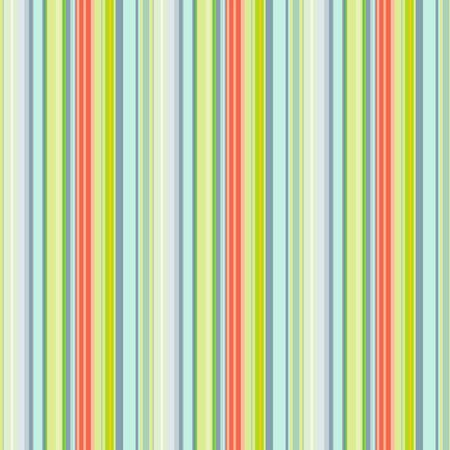 Seamless striped pattern of turquoise, yellowish, coral and greenish colors, vector. Great for decorating fabrics, textiles, gift wrapping design, any printed materials, advertising, or other design.  イラスト・ベクター素材