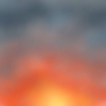 Bright red-orange sunset, twilight color Marengo, blurred background. Great as a background for a poster, web pages, gift wrapping design, any printed materials, advertising, or other design.  イラスト・ベクター素材