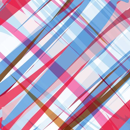 Abstract geometric background, uneven intersecting stripes of different widths, crimson, pink, blue-gray, white, brown. Well suited as a background for any of your advertising project, printed matter.