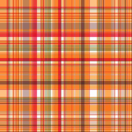 Bright and dark checkered print, seamless pattern of orange-yellow, raspberry and sienna stripes. Great for decorating fabrics, textiles, gift wrapping, printed matter, interiors, advertising.