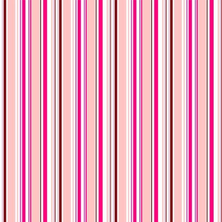 Seamless pattern of alternating vertical stripes of deep pink, pink, white and saturated red-brown colors. Great for decorating fabrics, textiles, gift wrapping, printed matter, interiors, advertising