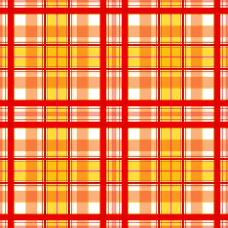 Bright checkered pattern in warm colors. Stripes and lines of red, yellow, coral colors. Great for decorating fabrics, textiles, gift wrapping, printed matter, interiors, advertising.