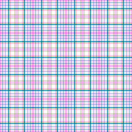 Bright seamless pinstripe checkered pattern. Stripes of azure, pink and yellow colors, white background. Great for decorating fabrics, textiles, gift wrapping, printed matter, interiors, advertising.