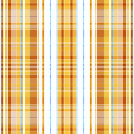 Seamless checkered stripes pattern in tan with the addition of white and blue. Great for decorating fabrics, textiles, gift wrapping, printed matter, interiors, advertising Stock Illustratie