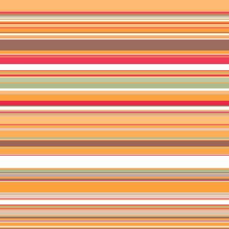 Seamless horizontal stripes pattern in warm orange-red colors with the addition of white, gray and brown. Great for decorating fabrics, textiles, gift wrapping, printed matter, interiors, advertising. Stock Illustratie