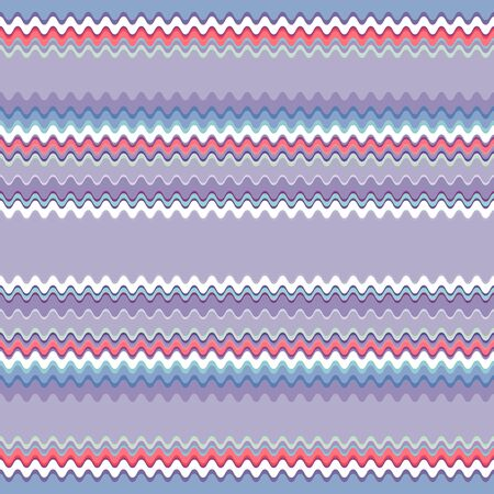 Seamless pattern of horizontal wavy stripes. The pattern is dominated by blue and purple shades. Great for decorating fabrics, textiles, gift wrapping, printed matter, interiors, advertising.