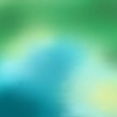 Background of green and azure blue spots that flow seamlessly into each other, blur, gradient. Fashionable and glamorous decoration of any of your bold advertising projects.