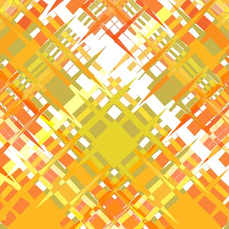 Colorful abstract background from curly fragments with sharp corners. Warm yellow-orange with the addition of a white gamut of colors. Ideal for any your bold design or advertising project.