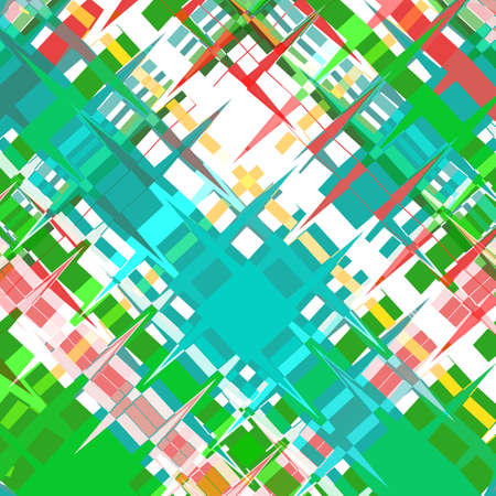 Multicolor abstract background, mosaic of curly fragments with sharp corners. Great as a background for a poster, web pages, gift wrapping design, any printed materials, advertising, or other design.