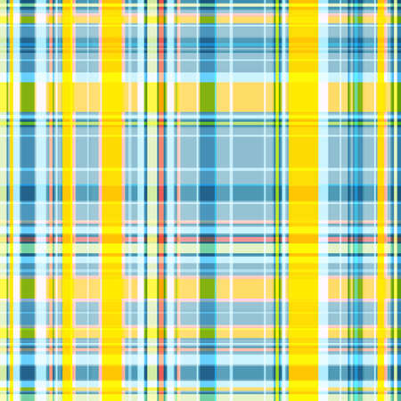 Seamless checkered pattern, the intersection of wide and thin stripes in yellow-blue colors. Great for decorating fabrics, textiles, gift wrapping, printed matter, interiors, advertising.