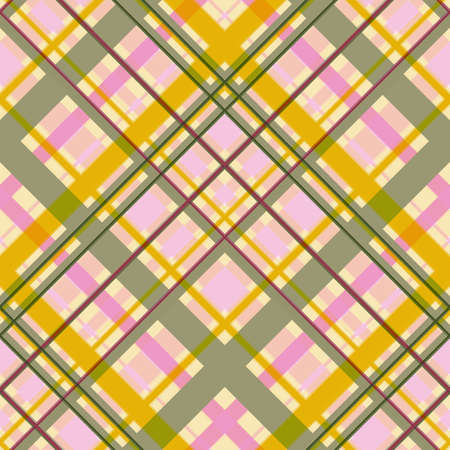 Seamless colored diagonal checkered pattern. Difficult intersection of wide and thin stripes. Great for decorating fabrics, textiles, gift wrapping, printed matter, interiors, advertising.