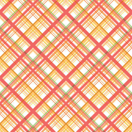 Checkered diagonal seamless print, stripes of different widths, warm shades of yellow and sienna on a white background. Fashionable and glamorous decoration of any of your bold advertising projects.