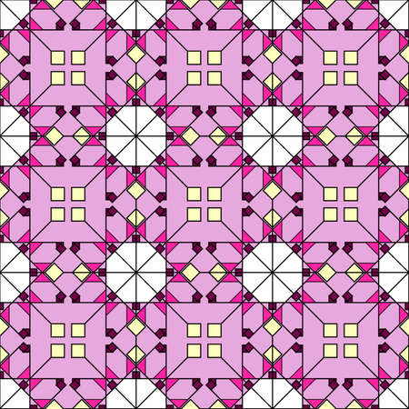 Vibrant geometric ethnic print, repeating tiles of simple interweaving. Great for decorating fabrics, textiles, gift wrapping design, any printed materials, advertising, or other design. Illustration
