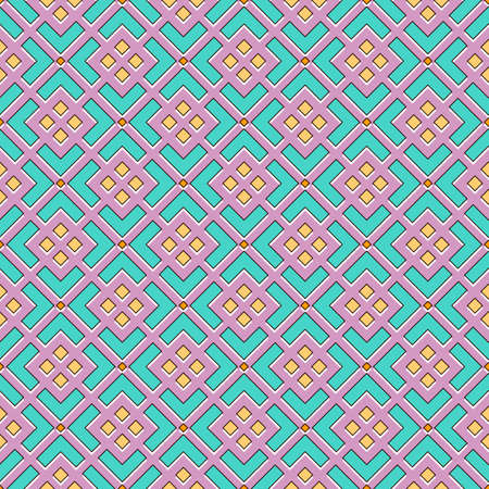 Seamless abstract pattern in pastel colors, geometric mesh with rhombuses and chevrons. Great for decorating fabrics, textiles, gift wrapping design, any printed materials, including advertising.