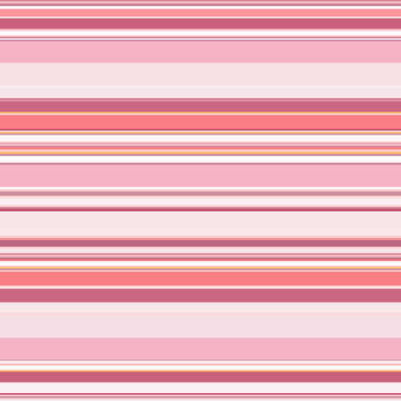 Striped seamless pattern. Horizontal lines and stripes. Vector geometric print in pink colors. Great for decorating fabrics, textiles, gift wrapping, printed matter, interiors, advertising. Vector Illustratie