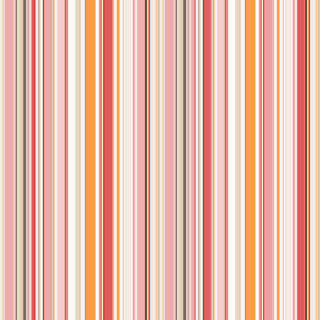 Trendy striped print. Seamless beautiful design of thin vertical stripes of white, pink and orange shades. Great for decorating fabrics, textiles, gift wrapping, printed matter, interiors, advertising