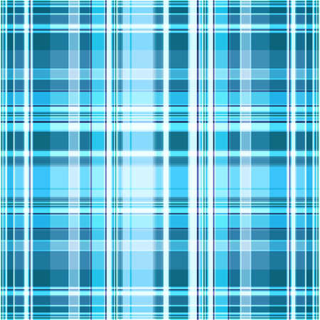 Plaid pattern in blue and white. Seamless monochrome checkered print, geometric abstract background. Great for decorating fabrics, textiles, gift wrapping, printed matter, interiors, advertising.