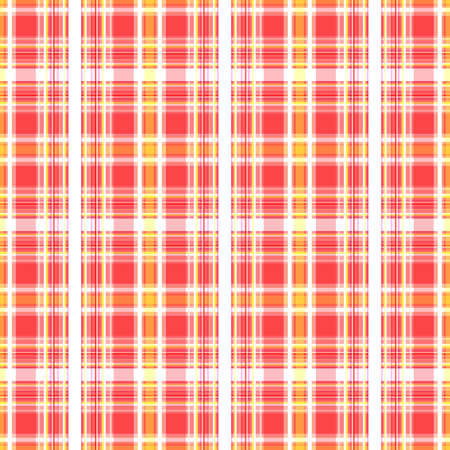 Checkered seamless background. Abstract geometric pattern of stripes of pink, yellow and white. Great for decorating fabrics, textiles, gift wrapping, printed matter, interiors, advertising.