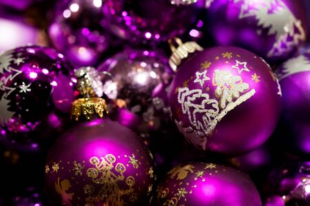 Christmas baubles. photo
