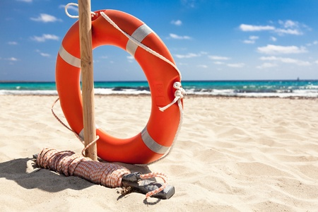 Life buoy. Stock Photo