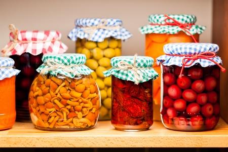 Preserved fruits and vegetables  Standard-Bild