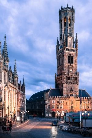 Belfry  Belfort tower on the Markt square in Bruges, Belgium