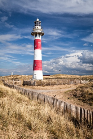 Lighthouse in Nieuwpoort  Belgium  photo