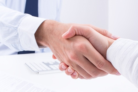 Business people make a deal  Stock Photo