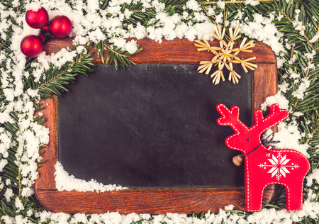 Vintage Chalk Board for a Christmas Greeting or Christmas Wish List. Standard-Bild