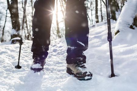 Escursioni invernali. Lens flare, profondit� di campo.