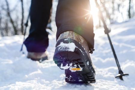 boots: Excursiones de invierno. Flama de la lente, la profundidad de campo.
