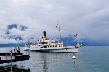 Boat on Lake Geneva Editorial