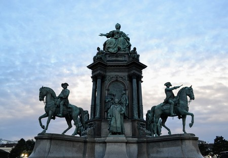 Vienna Maria Theresia statue Editorial