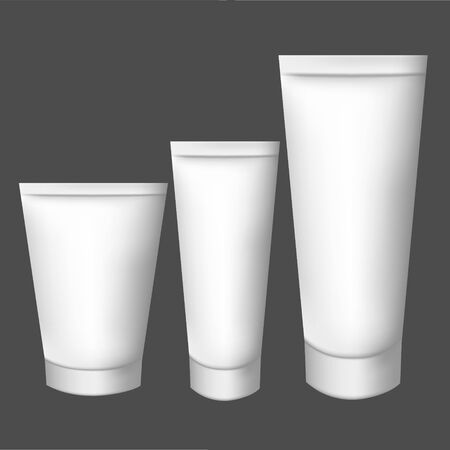 white Realistic tube. For cosmetics, ointments, cream, tooth paste . elements. Rasterized Copy