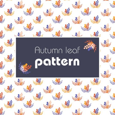 Seamless pattern with leafs, autumn leaf background. Vector 写真素材