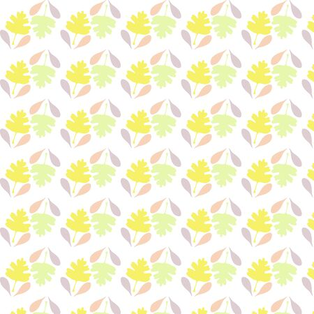 Seamless pattern with leafs, autumn leaf background.