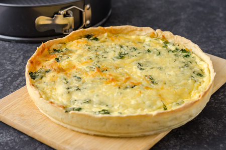 French open quiche pie.