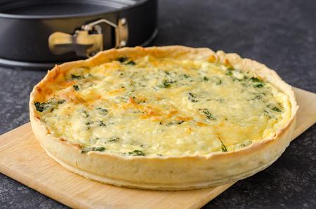 French open quiche pie.