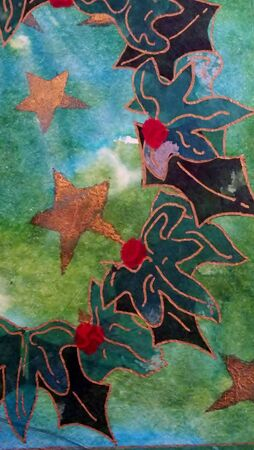 Holly and ivy Christmas design