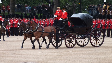 Royal carriage at Trooping the Color, 2012
