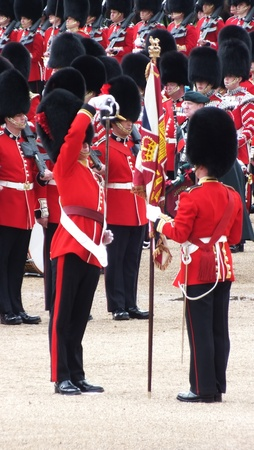 Saluting the Colors, at Trooping the Color, 2012