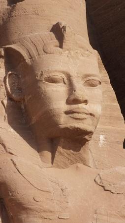 Head of  Ramses II , giant statue at Abu Simbel, egypt photo