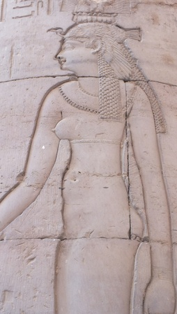 Cleopatra at Kom Obo temple, Egypt photo