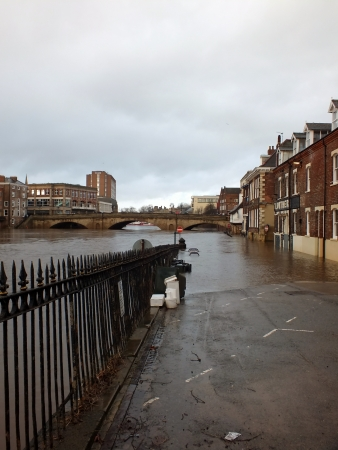 ouse: The River Ouse in York , England, with burst banks causing flooding, December 2012 Editorial