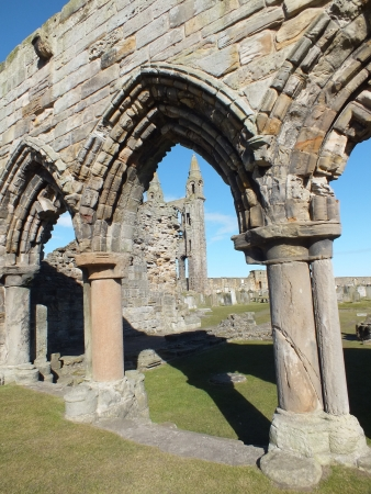 andrews: Ruins of Monastery at St. Andrews  , Scotland Stock Photo