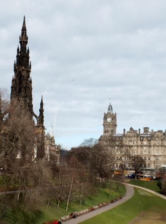 princes street: Edinburgh , Scotland, April 2013, Princes Street Gardens,