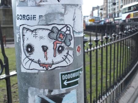 princes street: Edinburgh , Scotland, April 2013, street art near Princes Street Gardens