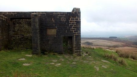 alleged: Top withens, alleged setting for the Earnshaw farm house in the Emily Bronte novel Wuthering Heights