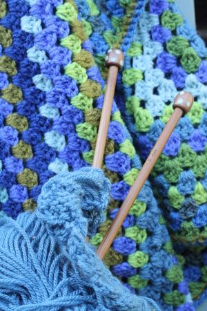 Arn Handwerk Wolle In Blau Und Grün Crochet Afghan Decke