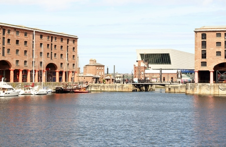 listed: Landscape shot of the listed buildings of Liverpool Albert Dock
